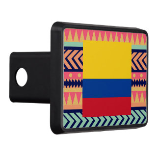Colorful Colombia Flag Box Tow Hitch Cover