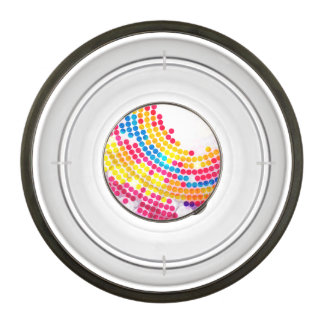 Colorful color Circle  Dots Pattern for Girls Bowl