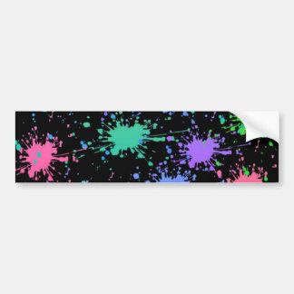 Colorful color splash effect bumper stickers