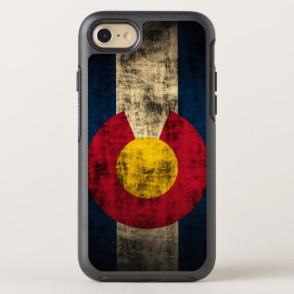 Colorful Colorado Flag Grunge OtterBox Symmetry iPhone 8/7 Case