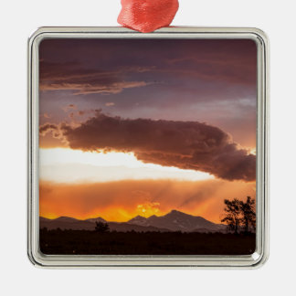 Colorful Colorado Front Range Summer Night Metal Ornament