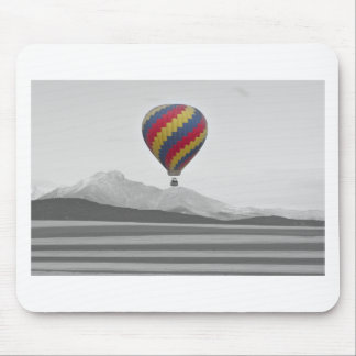 Colorful Colorado Hot Air Balloon and Longs Mouse Pad