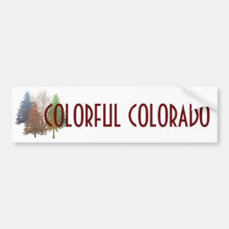 Colorful Colorado multi color trees bumpersticker Car Bumper Sticker