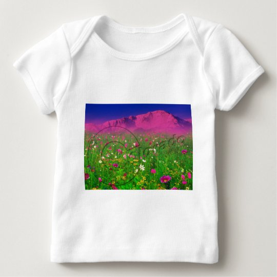 Colorful Colorado, Pikes Peak Mountain Baby T-Shirt