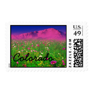 Colorful Colorado, Pikes Peak Mountain Stamp