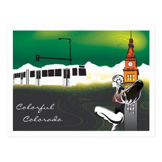 colorful colorado. postcard