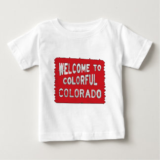 Colorful Colorado red welcome sign Baby T-Shirt