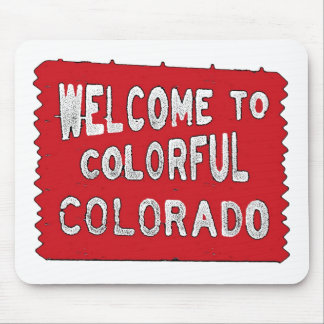 Colorful Colorado red welcome sign Mouse Pad