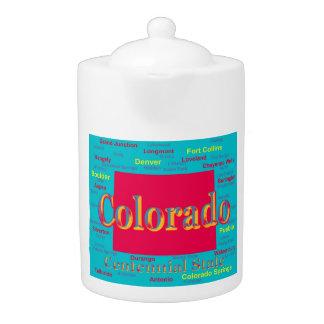 Colorful Colorado State Pride Map Silhouette