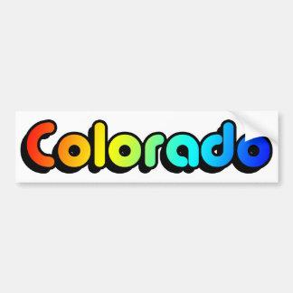 colorful colorado. v2. bumper sticker