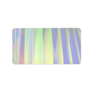Colorful Colored louvers Address Label