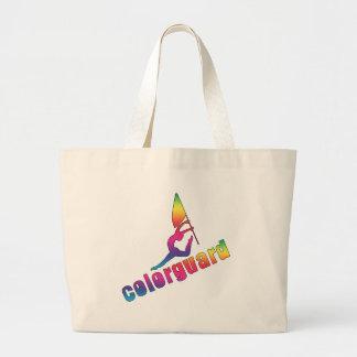 Colorful colorguard tote bag
