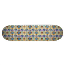 Colorful Columns Pattern Skateboard Deck