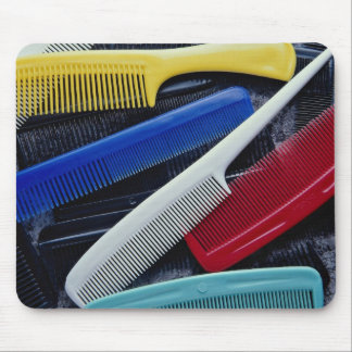 Colorful combs in different styles mousepad