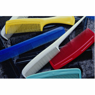 Colorful combs in different styles photo sculpture