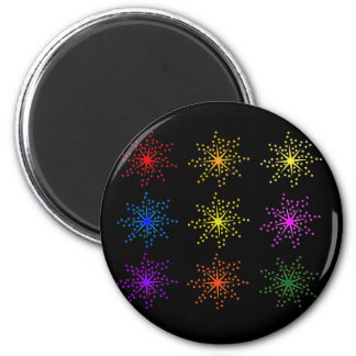 Colorful Comic Explosions Magnet