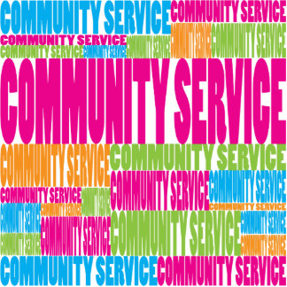 Colorful Community Service Cut Out