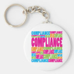Colorful Compliance Keychains