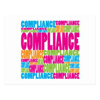 Colorful Compliance Postcard