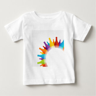colorful composition of bottles baby T-Shirt