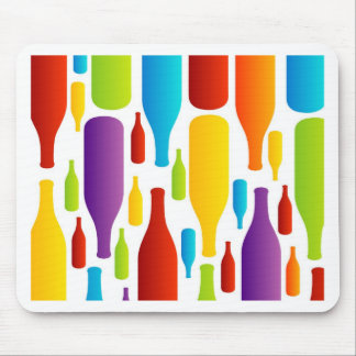 colorful composition of bottles mousepads