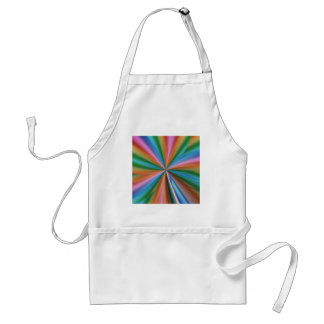 colorful computer generated graphic  like flower adult apron