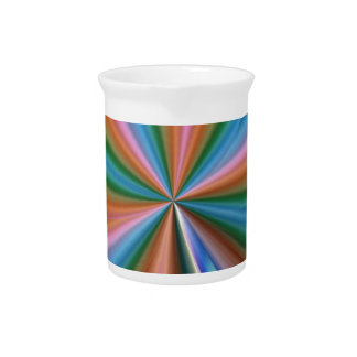colorful computer generated graphic  like flower beverage pitcher