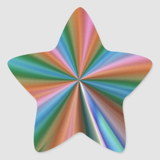 colorful computer generated graphic  like flower star sticker