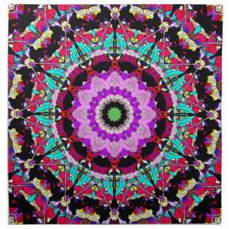 Colorful Concentric Abstract Cloth Napkin