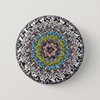 Colorful Concentric Chaos Pinback Button