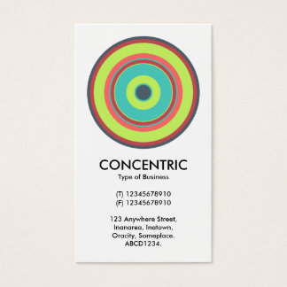 Colorful Concentric Circle 04 Business Card