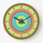 Colorful Concentric Circles 04 Wall Clock
