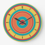 Colorful Concentric Circles 05 Clocks