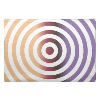Colorful concentric circles cloth placemat
