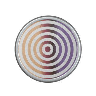 Colorful concentric circles speaker