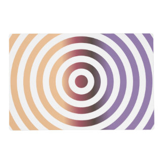 Colorful concentric circles placemat