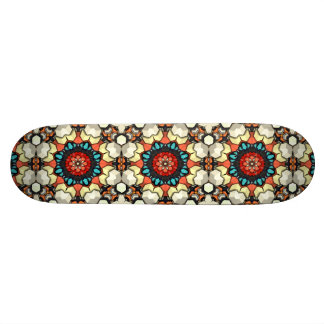 Colorful Concentric Cubes Skateboard Deck