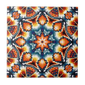 Colorful Concentric Motif Ceramic Tile