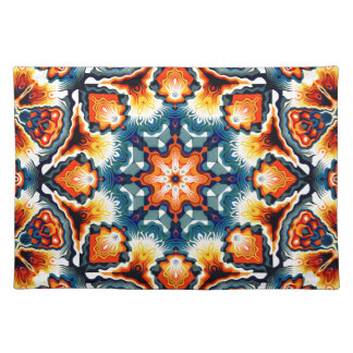 Colorful Concentric Motif Cloth Placemat