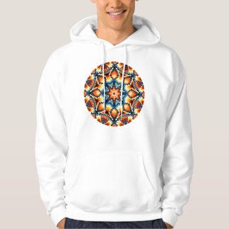 Colorful Concentric Motif Hoodie