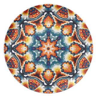 Colorful Concentric Motif Plate