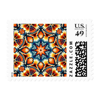 Colorful Concentric Motif Postage