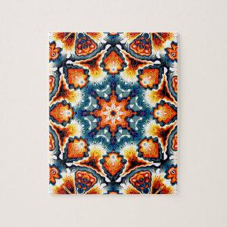 Colorful Concentric Motif Puzzle