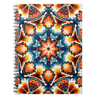 Colorful Concentric Motif Spiral Notebook