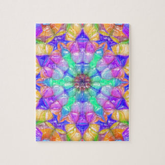 Colorful Concentric Reflections Jigsaw Puzzle