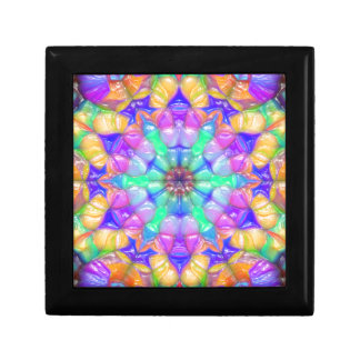 Colorful Concentric Reflections Keepsake Box
