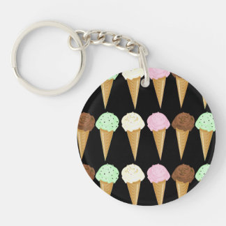 Colorful Cones Double-Sided Round Acrylic Keychain