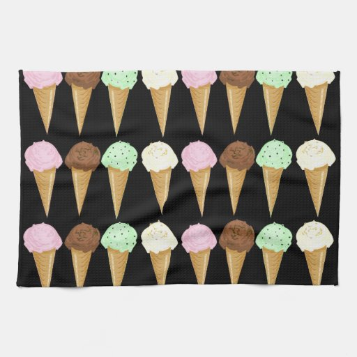 Colorful Cones Kitchen Towels