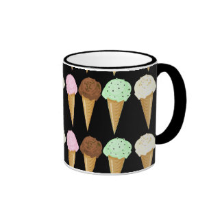 Colorful Cones Ringer Coffee Mug