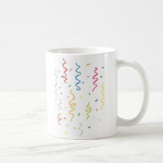 Colorful Confetti and Streamers Coffee Mug